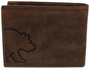 Brown Bear Geldbörse aus echtem Leder
