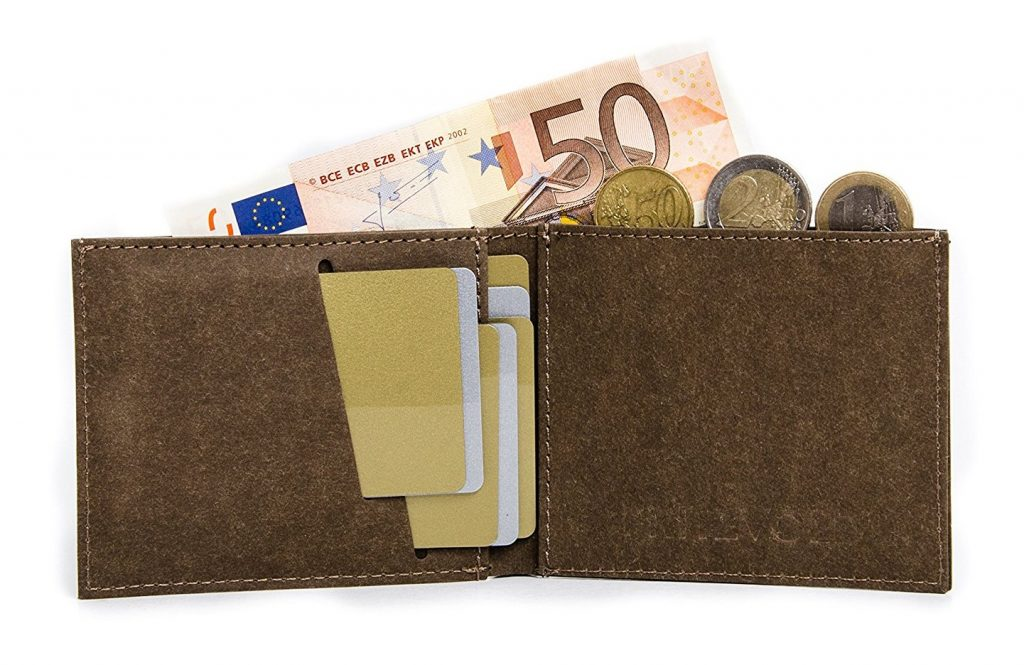 Flacher Geldbeutel mit Münzfach