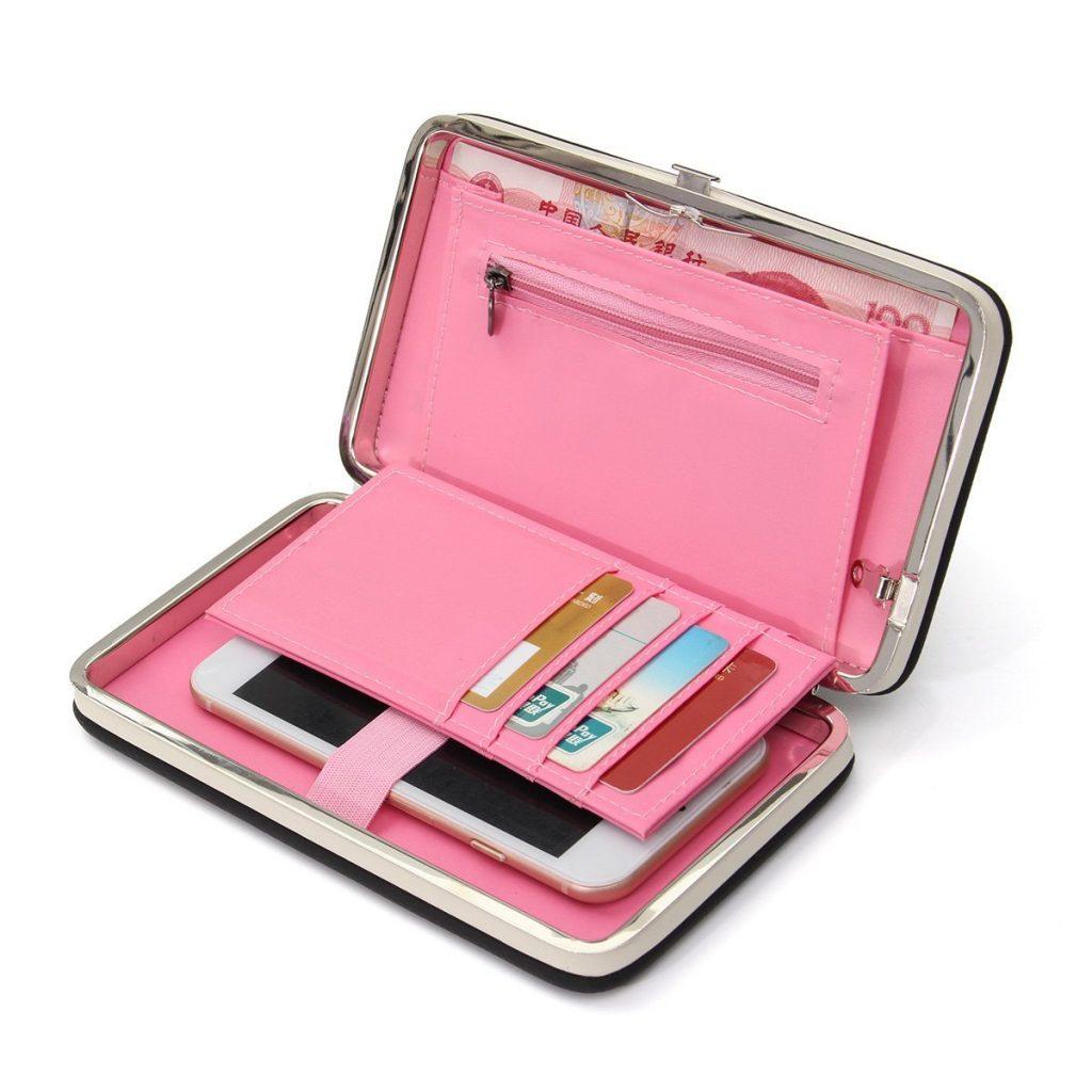 Geldbörse mit Handytasche in rosa